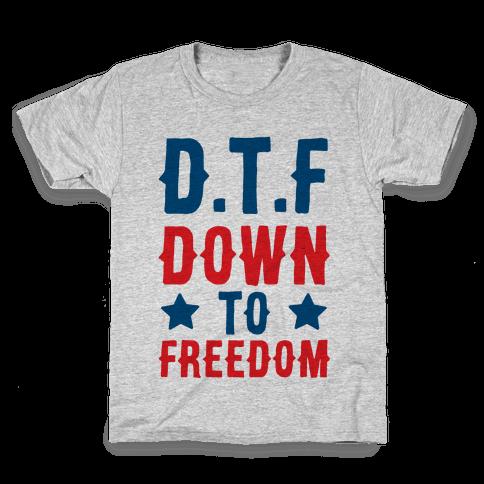 D.T.F Down To Freedom Kids T-Shirt