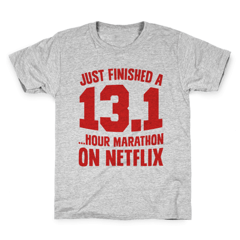 Just Finished A 13.1 Kids T-Shirt