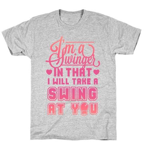 I'm A Swinger (Boxing) T-Shirt