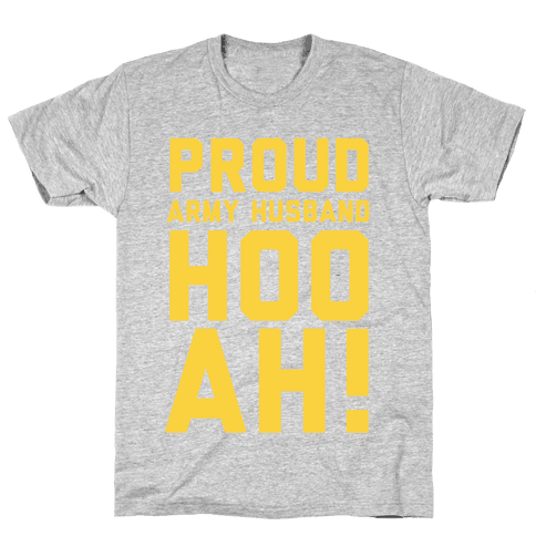 Proud Army Husband (Army Tank) Mens T-Shirt
