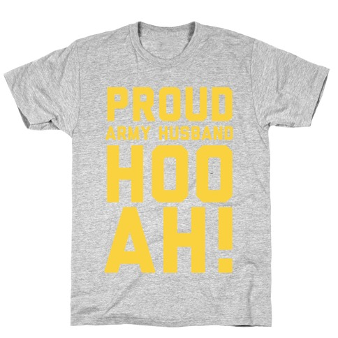 Proud Army Husband (Army Tank) T-Shirt