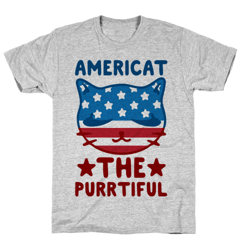 Americat The Purrtiful Mens T-Shirt