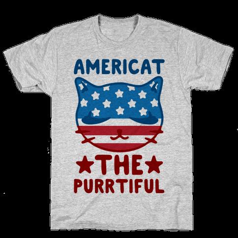 Americat The Purrtiful Mens T-Shirt