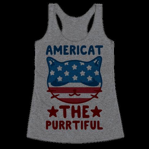 Americat The Purrtiful Racerback Tank Top
