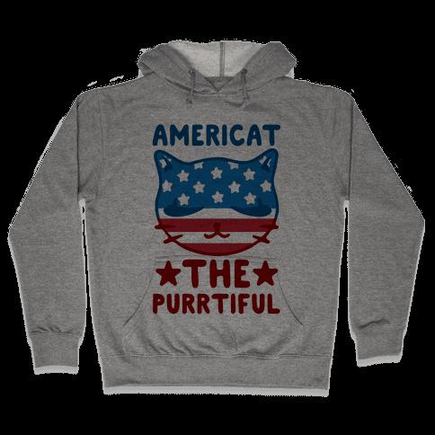 Americat The Purrtiful Hooded Sweatshirt