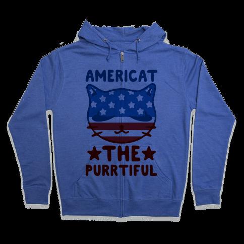 Americat The Purrtiful Zip Hoodie