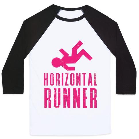Horizontal Runner Baseball Tee