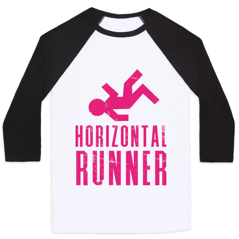 Horizontal Runner Baseball Tee