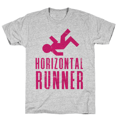 Horizontal Runner Mens T-Shirt