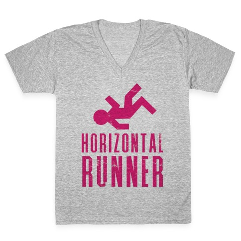 Horizontal Runner V-Neck Tee Shirt