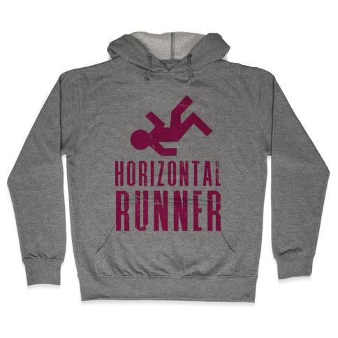 Horizontal Runner Hooded Sweatshirt