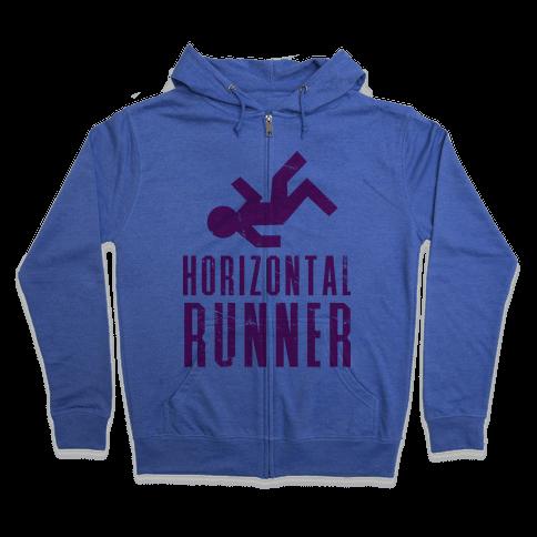Horizontal Runner Zip Hoodie