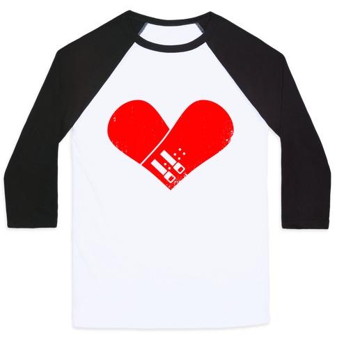 Snowboard Heart (Red) Baseball Tee
