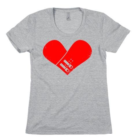 Snowboard Heart (Red) Womens T-Shirt