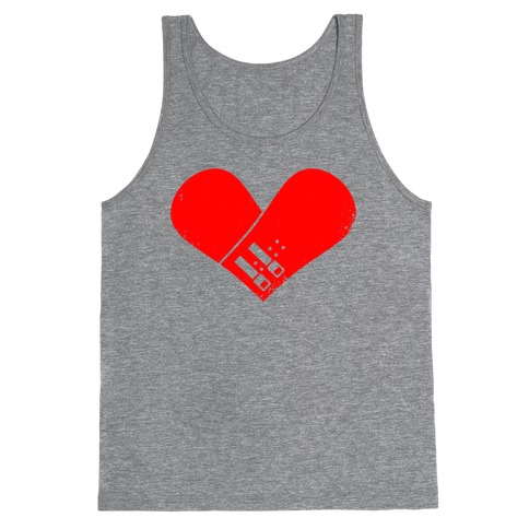 Snowboard Heart (Red) Tank Top