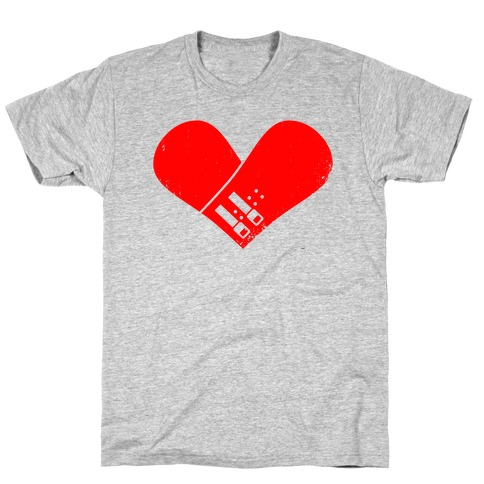 Snowboard Heart (Red) T-Shirt