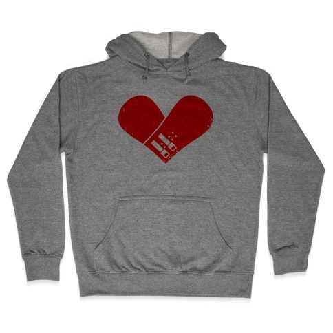 Snowboard Heart (Red) Hooded Sweatshirt
