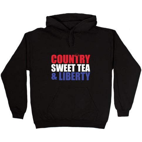Country, Sweet Tea, Liberty Hooded Sweatshirt