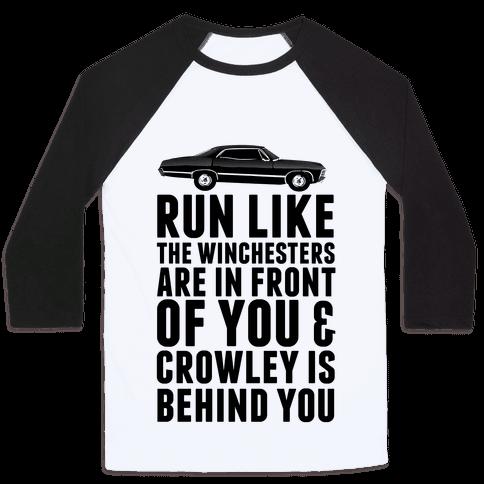 Run Like The Winchesters Baseball Tee