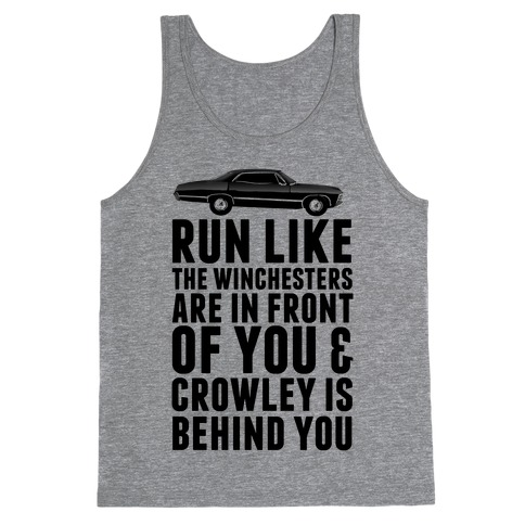 Run Like The Winchesters Tank Top