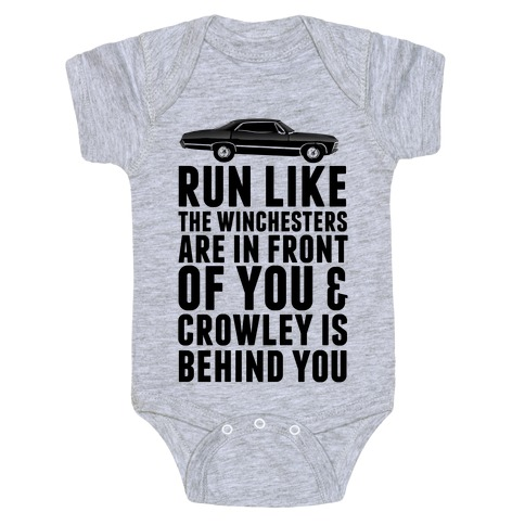 Run Like The Winchesters Baby Onesy