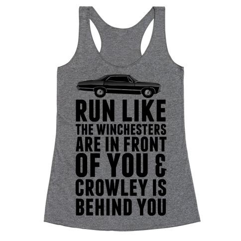 Run Like The Winchesters Racerback Tank Top