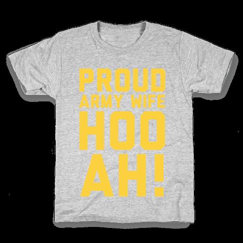 Proud Army Wife (Army Tank) Kids T-Shirt