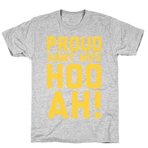 Proud Army Wife (Army Tank) Mens T-Shirt