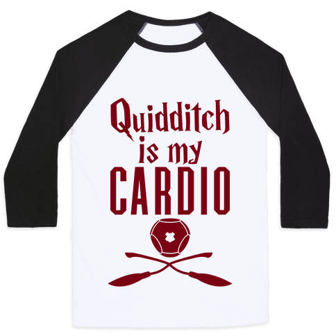 Quidditch Is My Cardio Baseball Tee