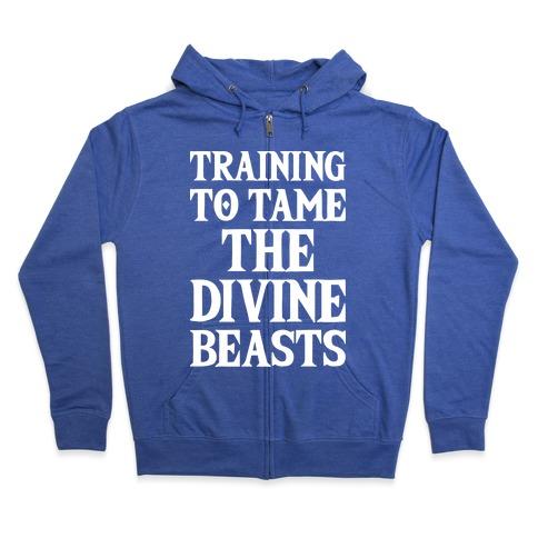 Training To Tame The Divine Beasts Zip Hoodie