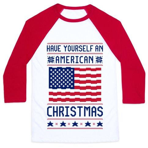 Have Yourself An American Christmas Baseball Tee