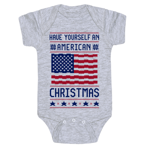 Have Yourself An American Christmas Baby Onesy