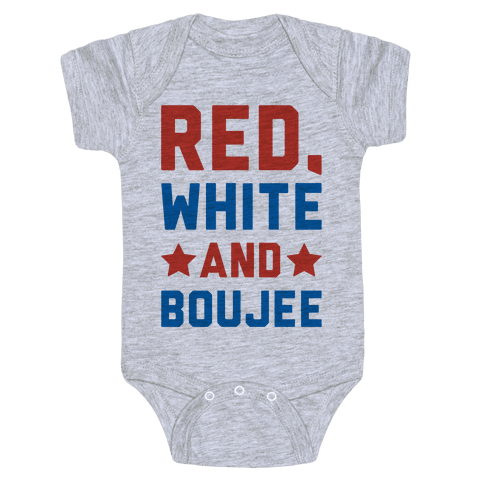 Red White And Boujee Baby Onesy