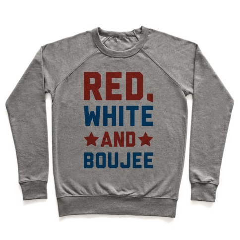 Red White And Boujee Pullover