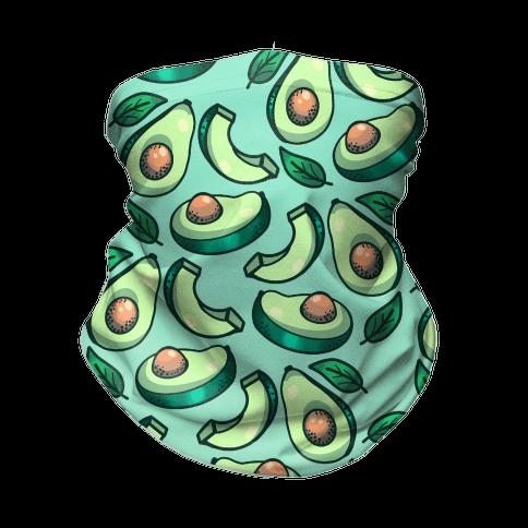 Cute Avocado Pattern Neck Gaiter