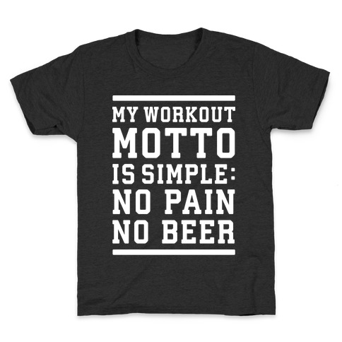 No Pain No Beer Kids T-Shirt
