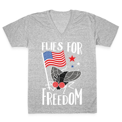 Flies For Freedom V-Neck Tee Shirt