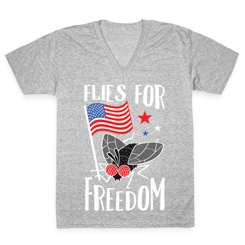 Flies For Freedom V-Neck Tee Shirt