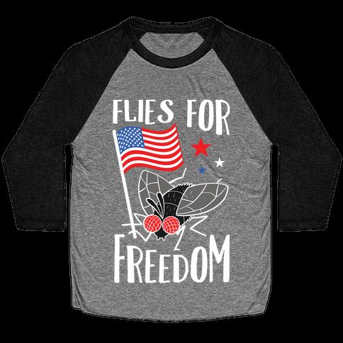 Flies For Freedom Baseball Tee