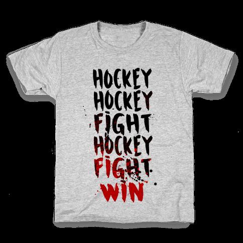 Hockey Hockey Fight Hockey Fight Win Kids T-Shirt
