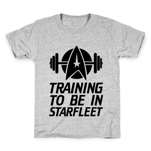 Training to be in Starfleet Kids T-Shirt
