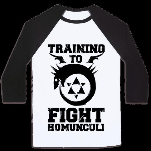 Training to Fight Homunculi Baseball Tee