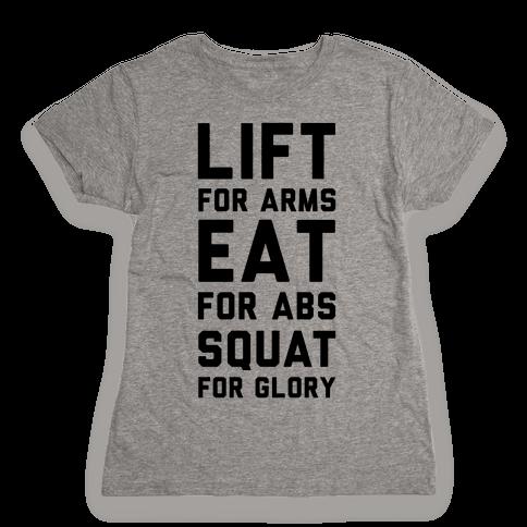 LIFT. EAT. SQUAT. Womens T-Shirt