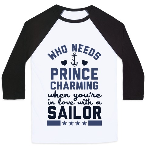 In Love with a Sailor (Navy T-Shirt) Baseball Tee