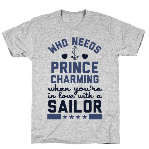 In Love with a Sailor (Navy T-Shirt) T-Shirt