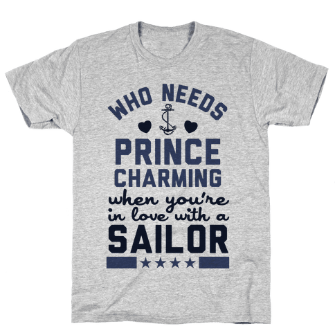 In Love with a Sailor (Navy T-Shirt) Mens T-Shirt