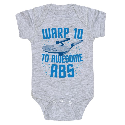 Warp 10 To Awesome Abs Baby Onesy