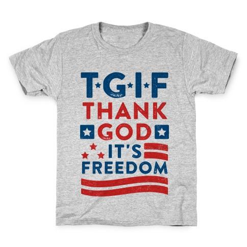 TGIF - Thank God It's Freedom (Patriotic Tank) Kids T-Shirt