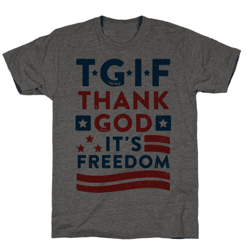 TGIF - Thank God It's Freedom (Patriotic Tank)