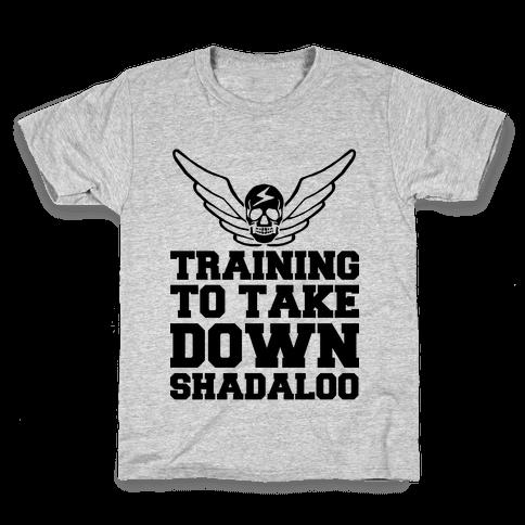 Training To Take Down Shadaloo Kids T-Shirt
